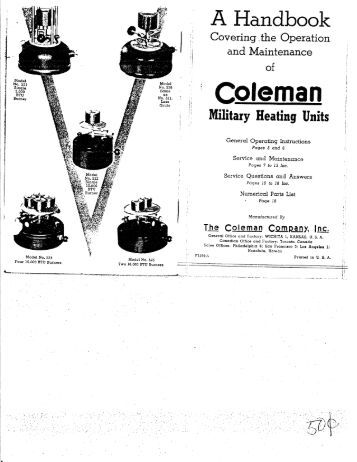 coleman stove instruction manual