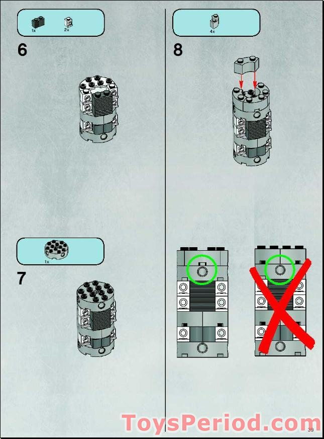 lego y wing 7658 instructions