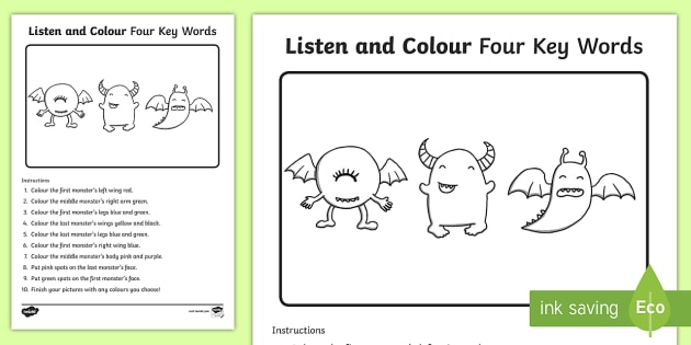 listen and draw instructions