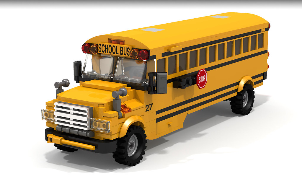 lego city school bus instructions