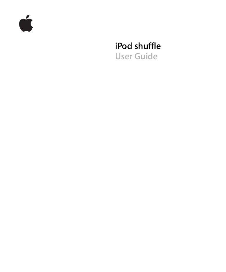 ipod shuffle instruction manual