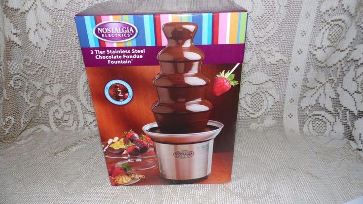 nostalgia chocolate fountain instructions