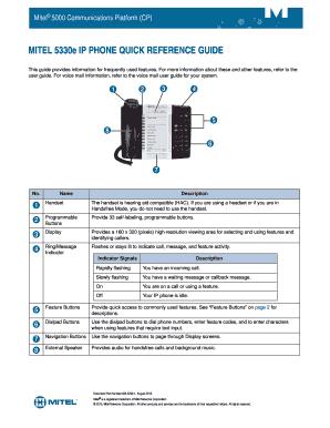 mitel 5330e headset instructions
