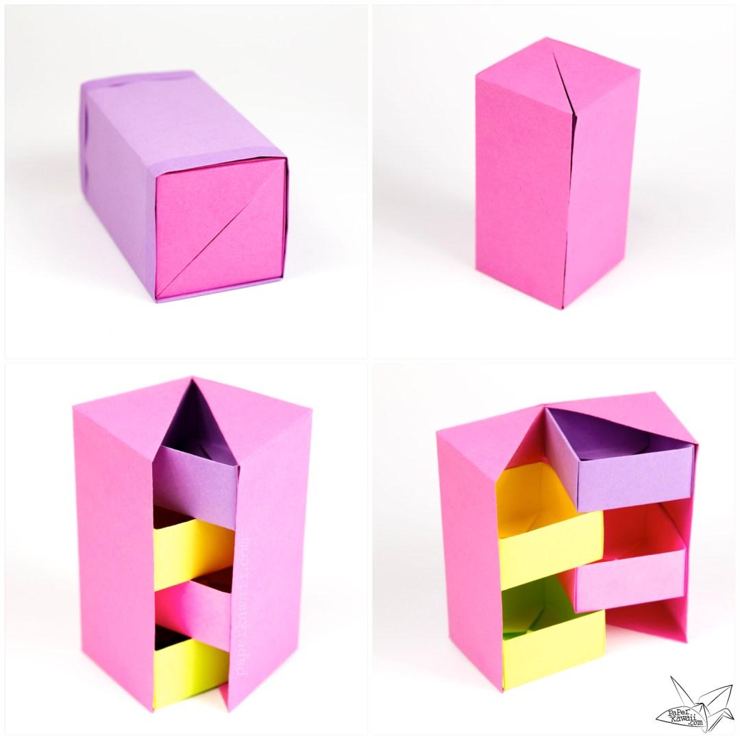 easy origami box folding instructions