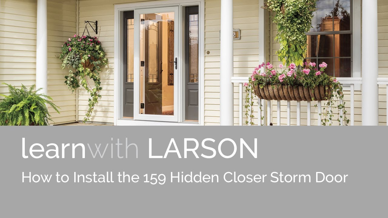 larson storm door closer installation instructions
