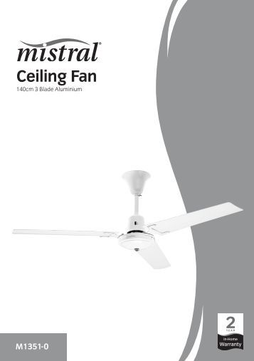 mistral misting fan instructions