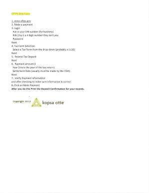 eftps payment instruction booklet