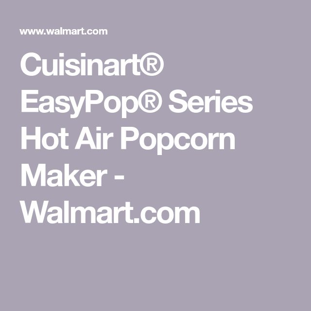 cuisinart hot air popcorn maker instructions