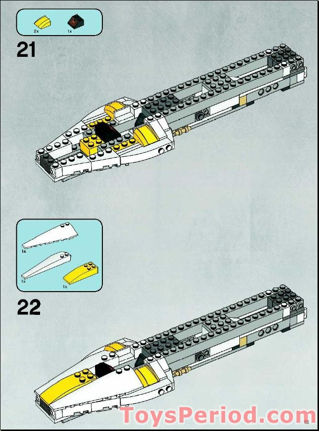 lego star wars b wing instructions