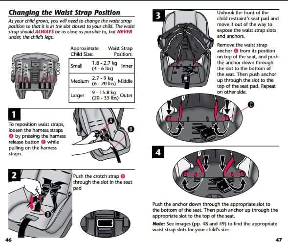 graco junior car seat fitting instructions
