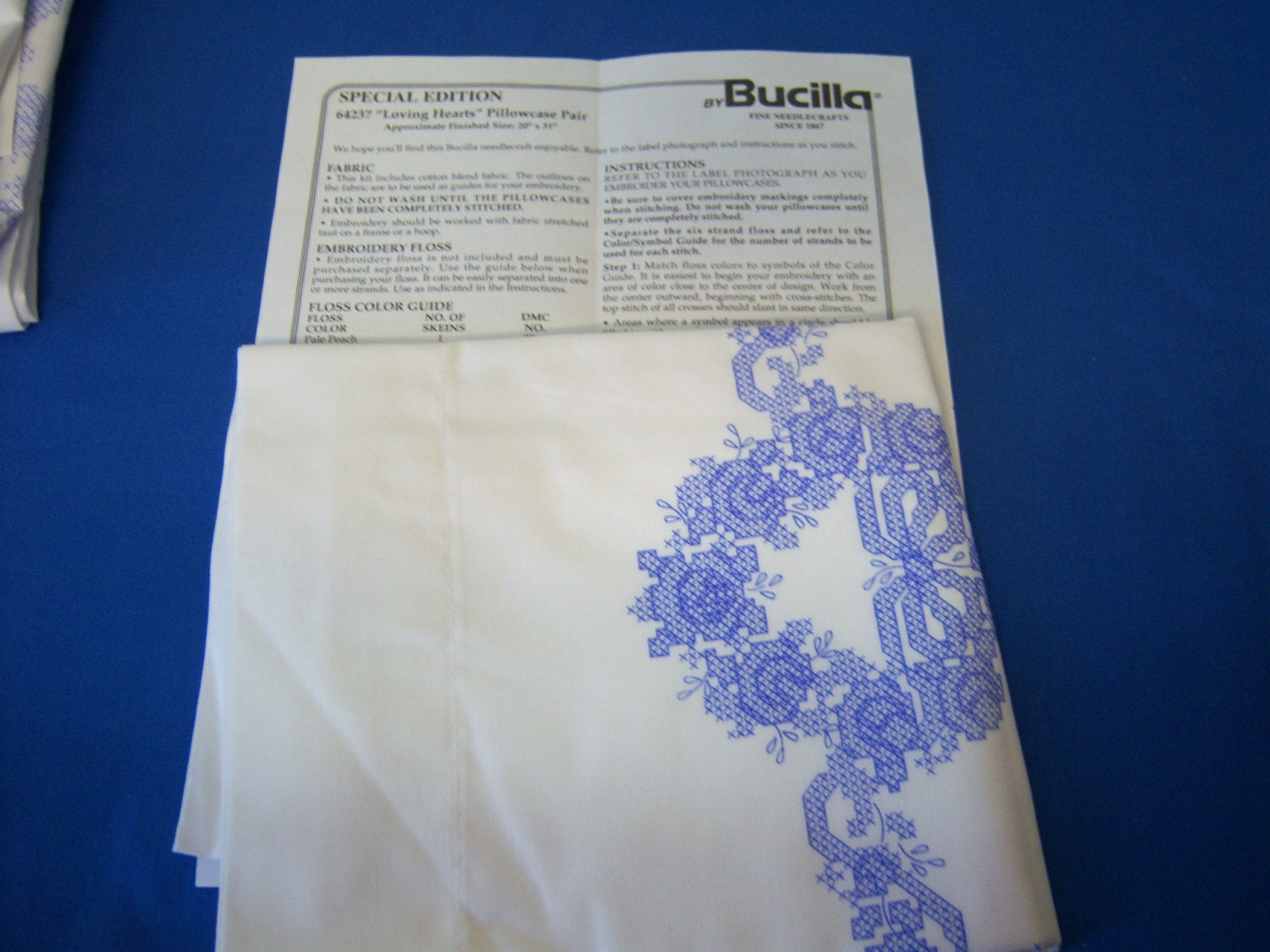 bucilla cross stitch instructions