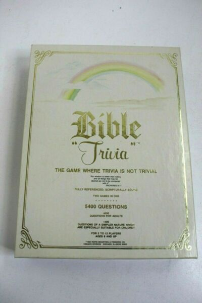 cadaco bible trivia instructions