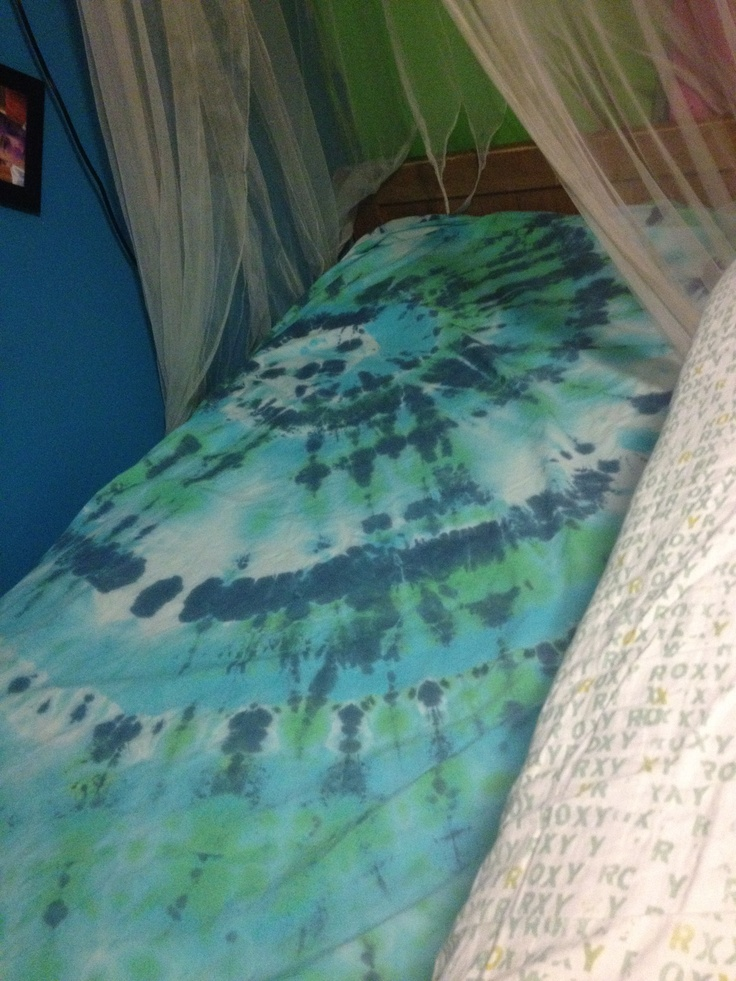 how to tie dye sheets instructions