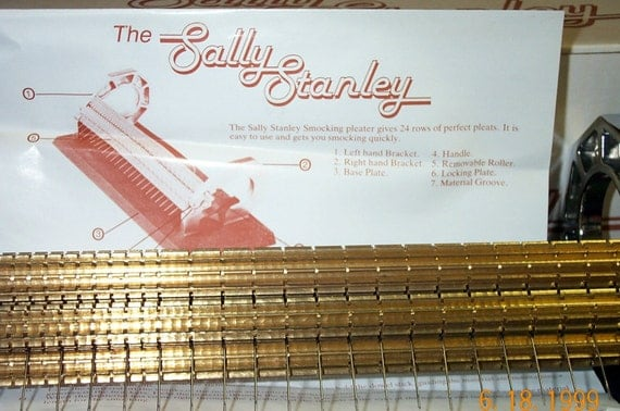 sally stanley smocking pleater instructions